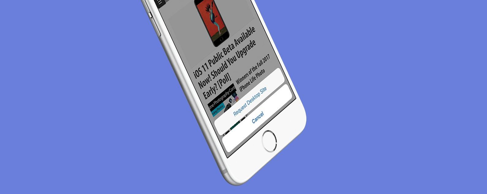 Hidden Trick for Viewing Desktop Version of a Website on iPhone