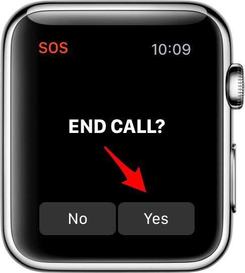 911 on apple watch