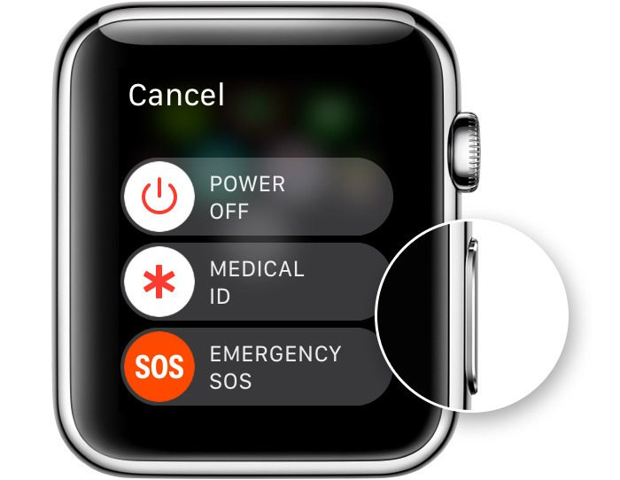 how to turn off apple watch