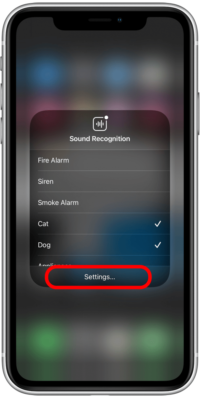 Tap on settings to change more settings