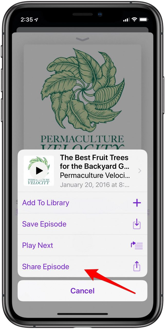 How to Share a Podcast Episode from Your iPhone | iPhoneLife com