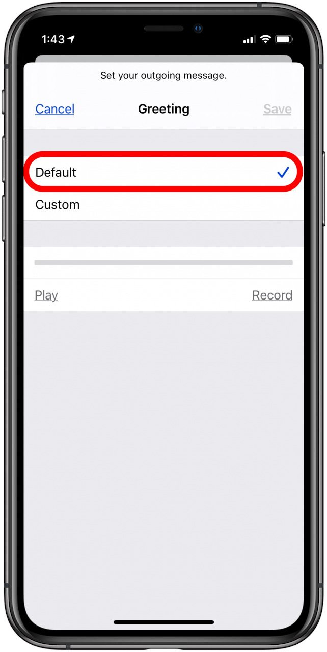 How to Record a Voicemail Message on Your iPhone