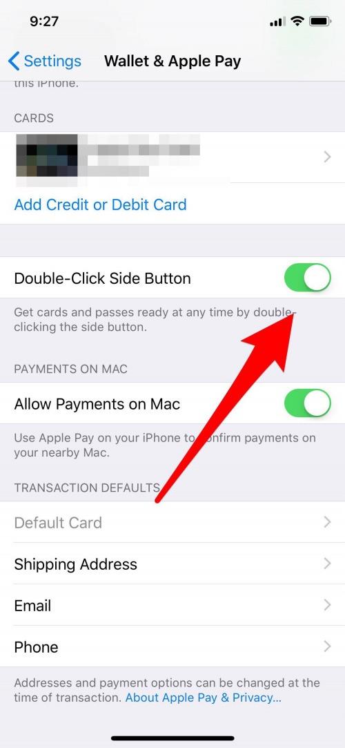 iphone x wallet app
