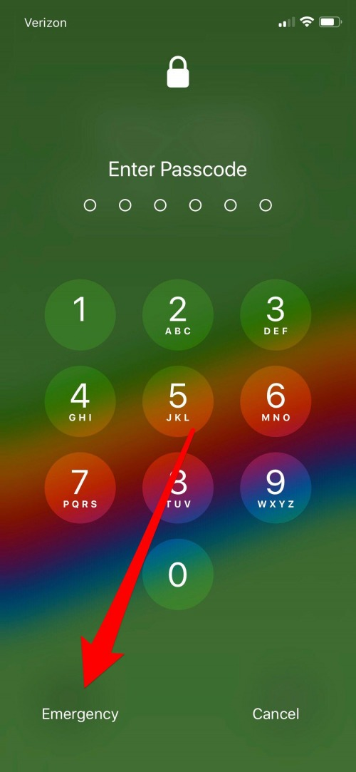 emergency medical information on iphone