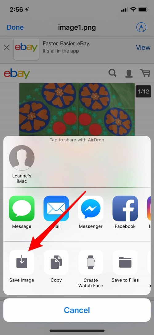 save a picture from email on iphone