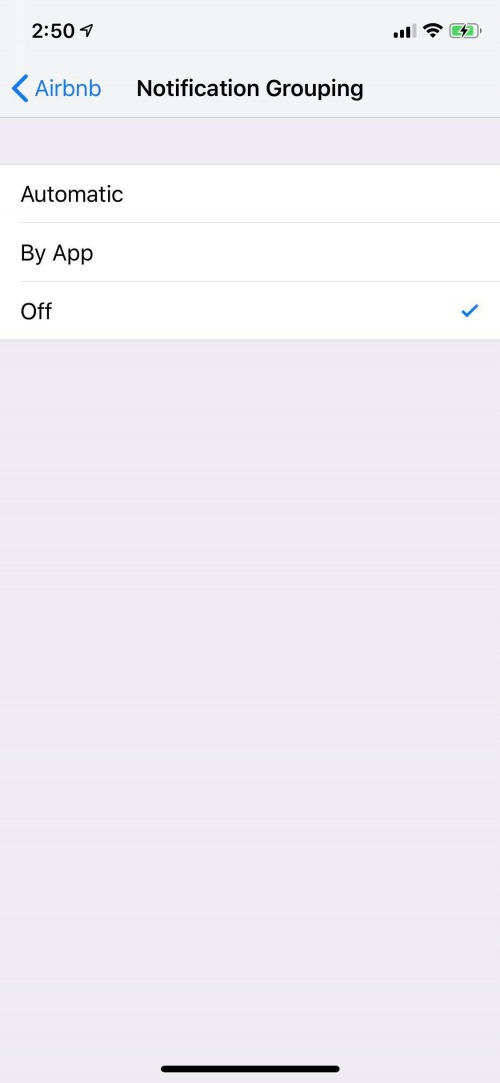 ungroup notifications ios 12