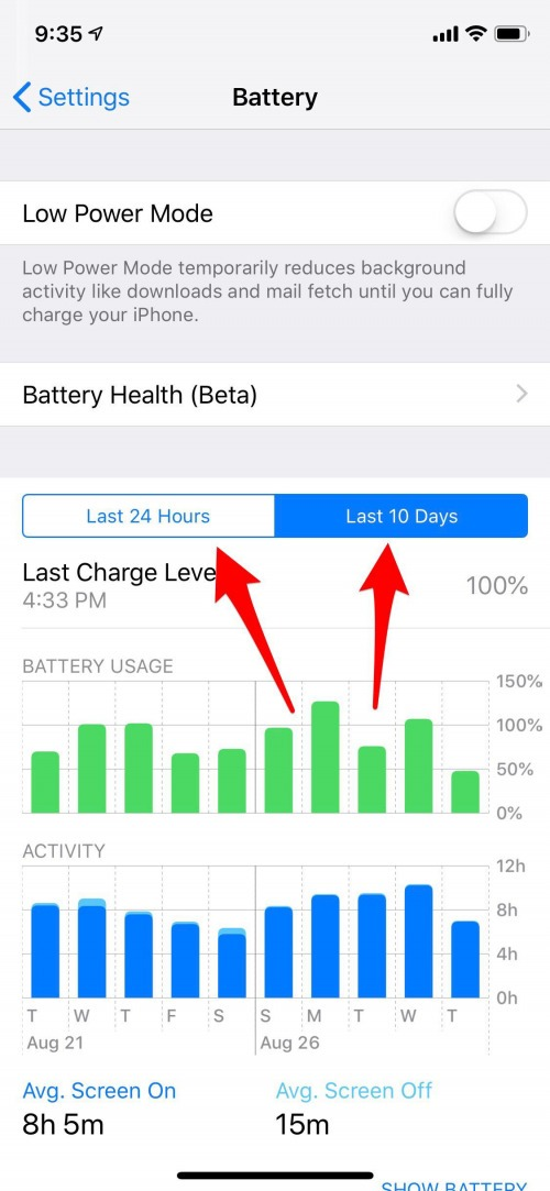 battery usage analyzer