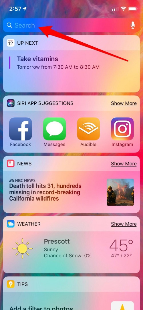 iphone message search