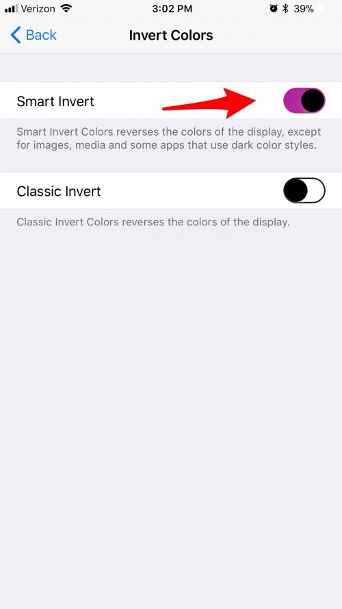 how to invert colors on iphone