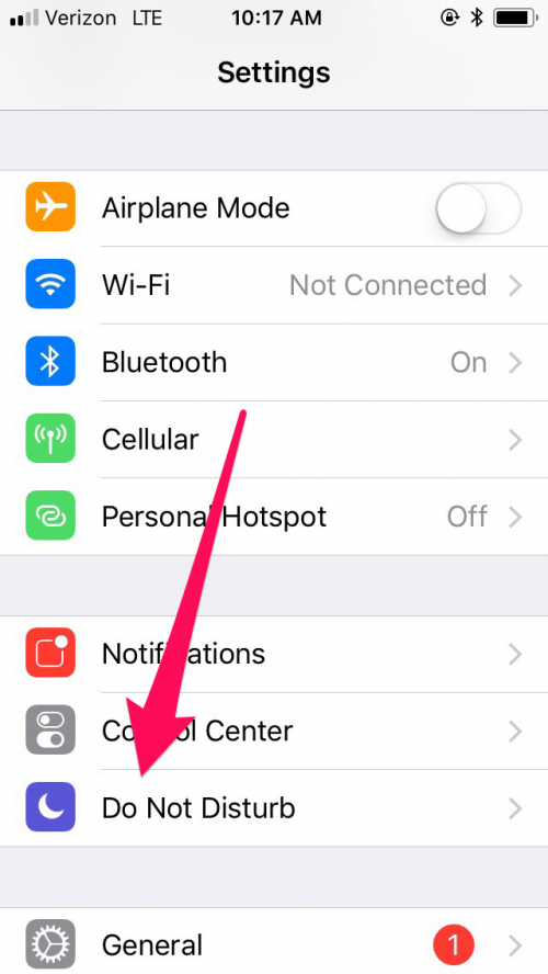 How to find Do Not Disturb on your iPhone