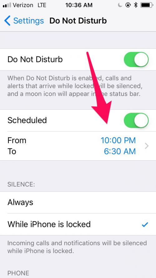 How to Schedule Do Not Disturb On Your iPhone