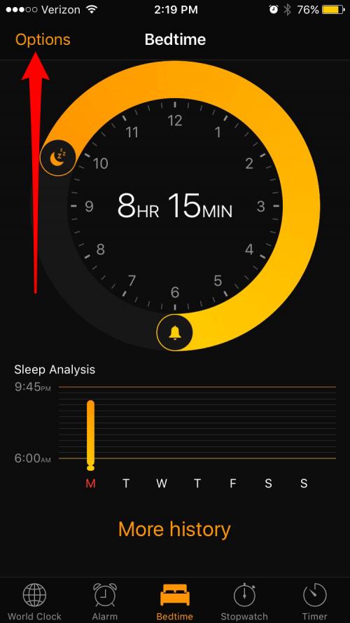 iphone bedtime