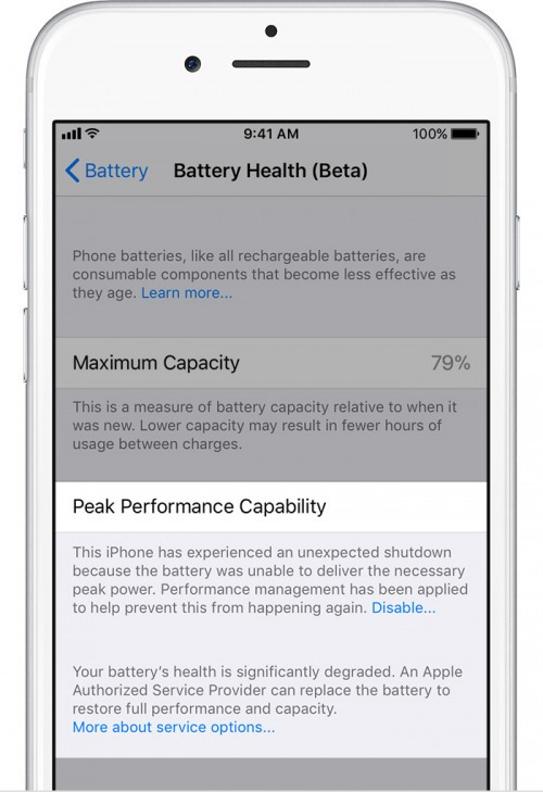 peak battery performance