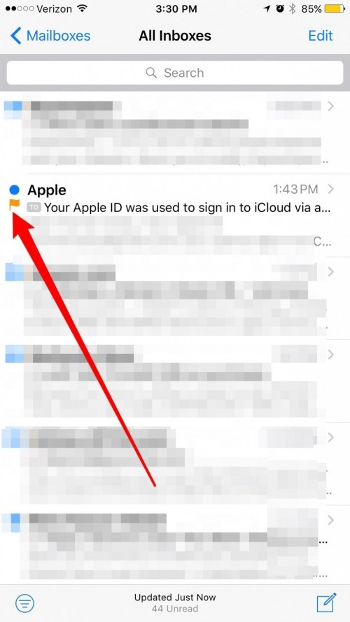How to Get the Flag Icon Back in Mail on iPhone